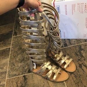 Torrid Gold Gladiator Sandals Size 11